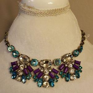 J.Crew fashion gems necklace.